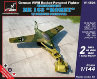 "ME 163 ""Komet"" w/Scheuch Schlepper, German WWII Rocket -Powerd Fighter"