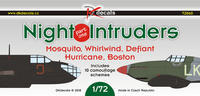 Night Intrudes Moquito, Whirlwind, Defiant, Hurricane, Boston