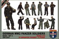 German WW2 Panzer Soldiers Set 2, 39 fig., 13 poses