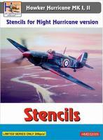 Stencils for Night Hurricane version, Hawker Hurricane MK I,II