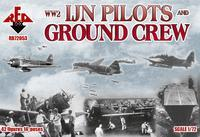 WW2 IJN Pilots and Ground Crew, 42 Figures, 14 Poses