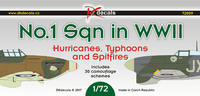 NO.1 Sqn in WWII Hurricanes, Typhones and Spitfires 1:72 Decal