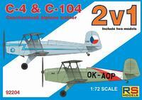 C-4 & C-104  Czechoslovak Biplane Trainer  - include two models