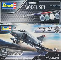 F-4E Phantom II (1:72) - Easy Click - set stavebnice se štětci,lepidlem a barvami