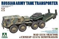 Russian Army Tank Transporter Maz-537G + CHMAZP-5247G