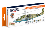 Russian AF Helicopters  Paint Set Vol.1, set barev