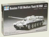 Russian T-55 medium Tank  M1958
