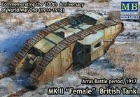 "Mk.II ""Female"" British Tank Arras Battle period, 1917"
