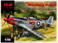 Mustang P-51D with USAAF Pilots and ground Personnel