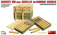 Soviet  85mm Shells w/Ammo Boxes