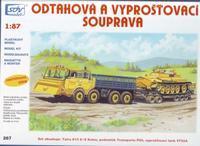 Odtahová a vyprošťovací souprava, Tatra 813 8x8 Kolos, podval.Transporta P50 a VT55A.