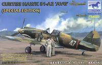 "Curtiss Hawk 81-A2 ""AVG"", spec. edition - 3 fig. + plátěná nášivka"