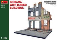 Diorama w/Ruined Buldings