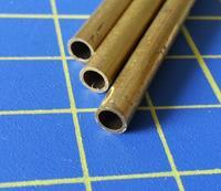 mosazná trubka o4mm x 0,45mm délka 305mm 3ks