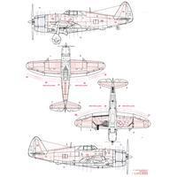 P-47D Thunderbolt Razorback nýtovací sada 1:72