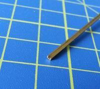 mosazný profil U 1.5x1mm délka 305mm 1ks