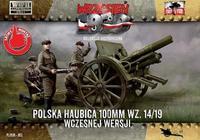 Polska Haubica Polowa (polní houfnice) 100 mm wz. 14/19 Škoda Wcezesnej Wersii
