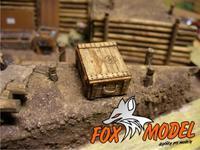 Dřevěná bedna se znakem Box010 1:35 2ks