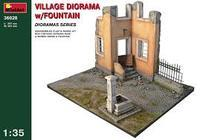 Village Diorama w/Fountain