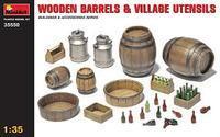 Wooden Barrels and Village Utensils