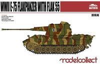 Germany WWII E-75 Flakpanzer with FLAK 55