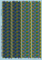 Lozenge C. German 5 color printed fabric