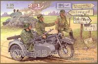 BMW R12 with sidecar military versions 2 in 1