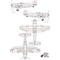 P-47D Bubbletop nýtovací sada 1:48