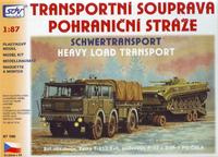 Transportní souprava pohraniční stráže - T-813 6x6, podvalník P-32 a BVP-1 PS/ČSLA