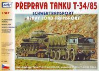 Přeprava tanku T-34/85, Tatra 813 8x8, podvalník P-50 a T34-/85 ČSLA