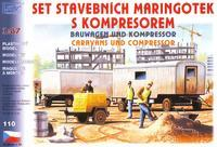 Set stavebních maringotek s kompresorem (2+1)