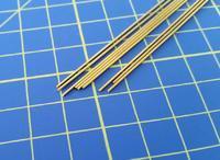 mosazná tyč kruhového průřezu o0,8mm délka 305mm 9ks