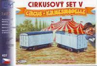 Cirkusový set, 2 maringotky.