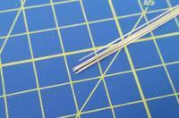 tyč kruhového průřezu z pakfongu o0,33mm délka 305mm  6ks