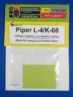 Piper L-4/K-68 Stříkací masky pro kabinky a kola