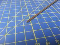 Brass Angle mosazný profil L 2,4 x 2,4mm délka 304mm 1ks