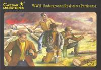WWII Underground Resisters - Partisans, 42 fig.