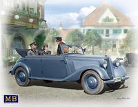 German military car, Type 170, Tourenwagen with crew, WWII era.