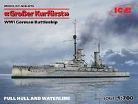 Kronprinz German Battleship 1:700