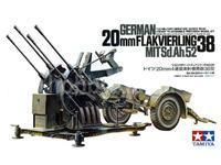 German 20mm Flakvierling 38 mit Sd.Ah.52