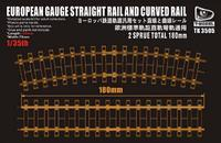European Gauge Straight Rail And Curved Rail