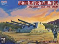 Austratt Fort Coastal Artillery Site - Triple 128mm Turret Caesar