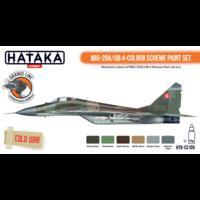 MIG-29A/UB 4-Colour Scheme Paint Set, sada barev