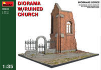 Diorama W/Ruined Church
