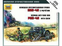 German Ati-Tank Gun Pak-40 with Crew