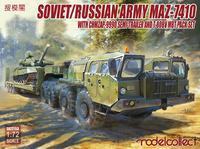 Soviet/Russian Army MAZ-7410 with CHMZAP-9990 SEMI-Trailer T-80BV MBT Pack SET