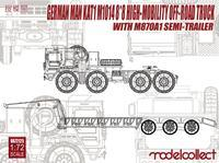 German MAN KAT1 M1014 8x8 High-Mobility Off Road truck with M870A1 Semi Trailer