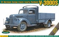 3t German Cargo Truck (Early Flatbed) V-3000S