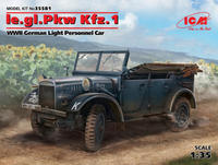 le.gl.Pkw Kfz. 1 German Light Personnel Car WWII