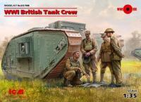 WWI British Tank Crew 4 fig.